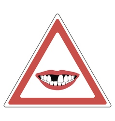 Sign toothless people vector