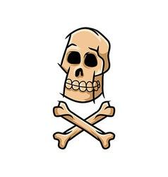 Skull and cross unclean line art vector