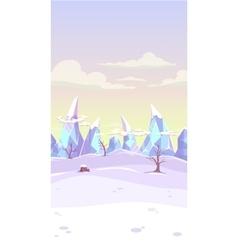 fantasy winter landscape vector image vector image