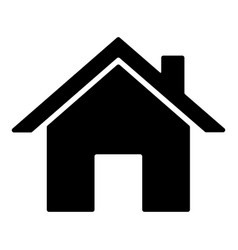 home icon black silhouette isolated on white vector image