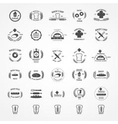 set of vintage bakery logos vector image vector image