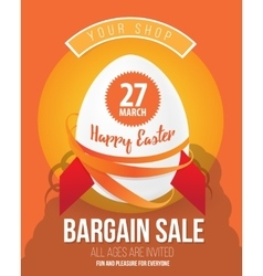 The Easter eggs banner for Easter sales with vector image vector image