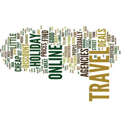 the easy way to cheap holiday travel text vector image vector image