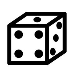 dice game isolated icon design vector image