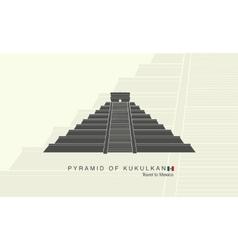 Mayan pyramid of Kukulkan in Mexico vector image