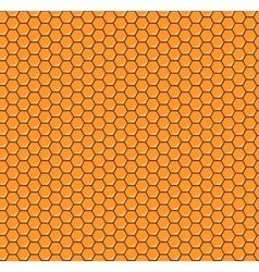 Orange honeycomb seamless pattern vector image