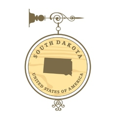 Vintage label South Dakota vector image vector image