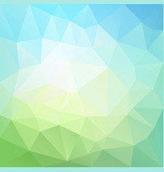 abstract polygonal background blue sky green vector image