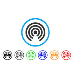 Airdrop source rounded icon vector