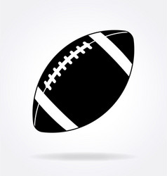 american football gridiron icon black and white vector image