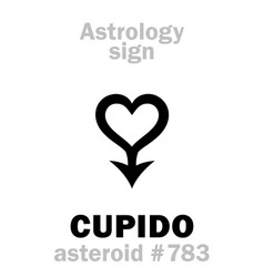 astrology asteroid cupido vector image