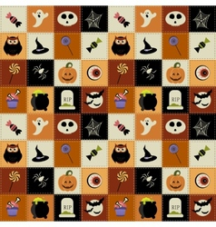 Background with halloween elements vector