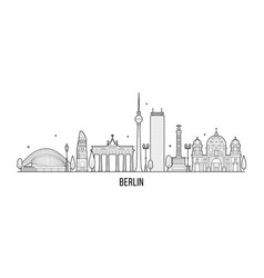 berlin skyline germanym city vector image