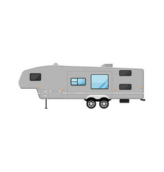 big modern travel trailer isolated on white icon vector image