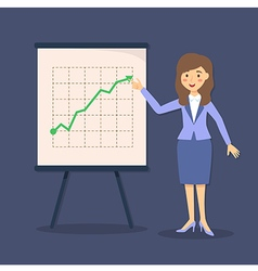 Blue Businesswoman Presentation Growing Up vector