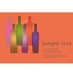 Bottles vector image