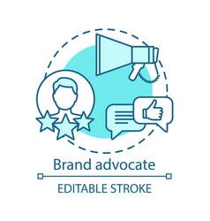 Brand advocate concept icon referral marketing vector