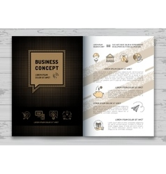 Business brochure design template Elegant brand vector
