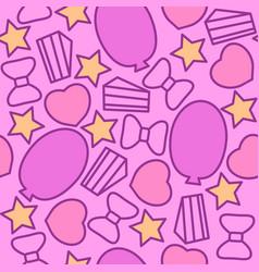 celebration seamless pattern pink vector image