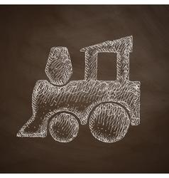 childrens train icon vector image