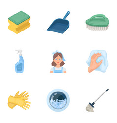 Cleaning washing and everything connected with it vector