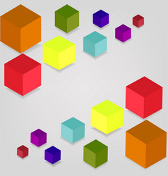 colored cubes on a gray background vector image