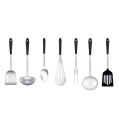 cooking tools realistic set vector image
