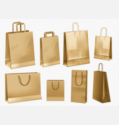 craft paper bag template vector image