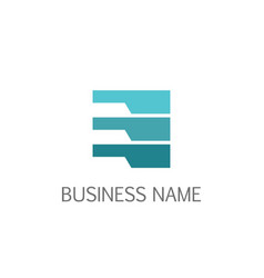data line abstract business logo vector image
