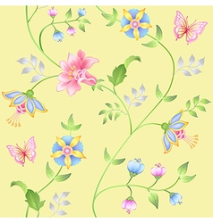 Decor floral elements seamless set vector