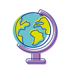 Earth planet desk tool decoration vector