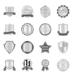 Emblem and badge logo set vector