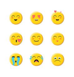 Emoji flat icon face emoticon vector