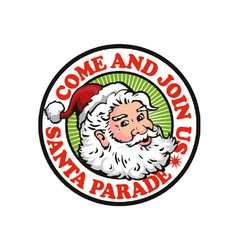 Father christmas santa claus parade vector
