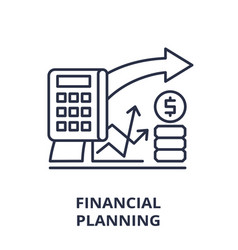 financial planning line icon concept financial vector image
