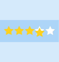 five star rating feedback concept flat style vector image