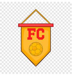 Flag football team icon cartoon style vector