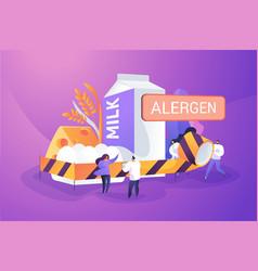 Food allergy concept vector