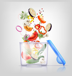 Food containers composition vector