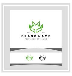 Fox leaf tech logo design concept vector