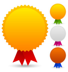 gold silver bronze medallions with different vector image