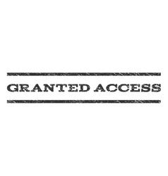 Granted Access Watermark Stamp vector