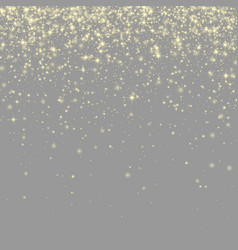 Grey shiny background with golden sparkling lights vector
