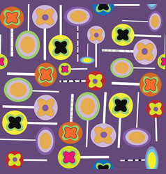 halloween lollypops purple pattern vector image