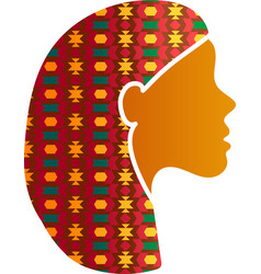 Indian woman face silhouette profile icon isolated vector