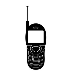 isolated old cellphone icon vector image
