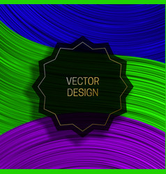 Jagged round on colorful dynamic background vector
