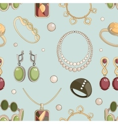 Jewelry set pattern vector image