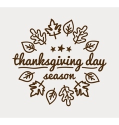 Label design template to Thanksgiving Day Black vector