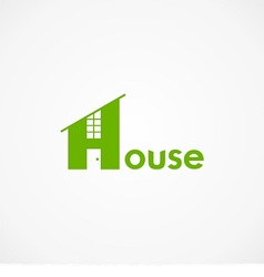 logo house with word house vector image